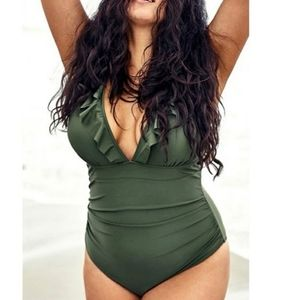 Cupshe Ruffle One Piece Swimsuit